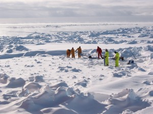 Workers on Sea Ice